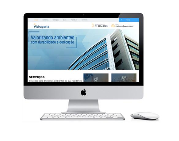 Desenvolvimento de Sites para Vidraçarias