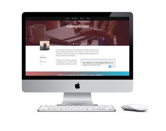 Desenvolvimento de Sites para Compositores