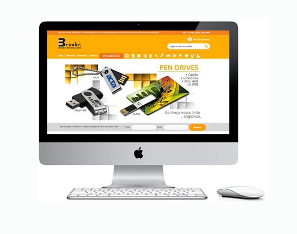 Criação de Loja Virtual para Empresa de Brindes