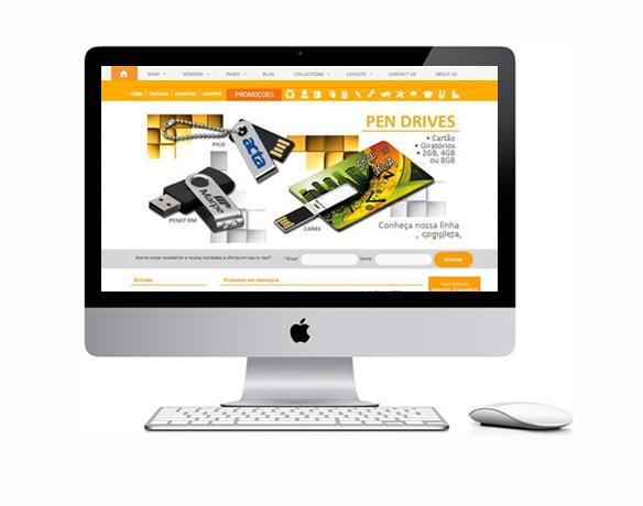 Criação de Loja Virtual para Produtos Personalizados e Brindes