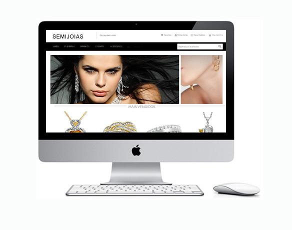 Criação de Loja Virtual para Vender Semijoias