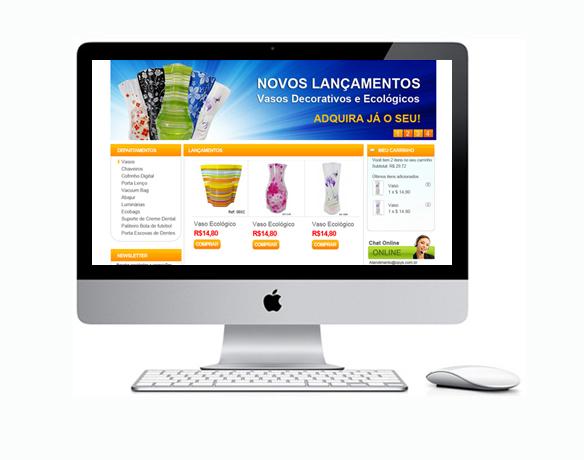 Criação de Loja Virtual para Vasos e Peças Antigas